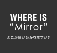 """WHERE IS""""Mirror""""どこが鏡か分かりますか?"""